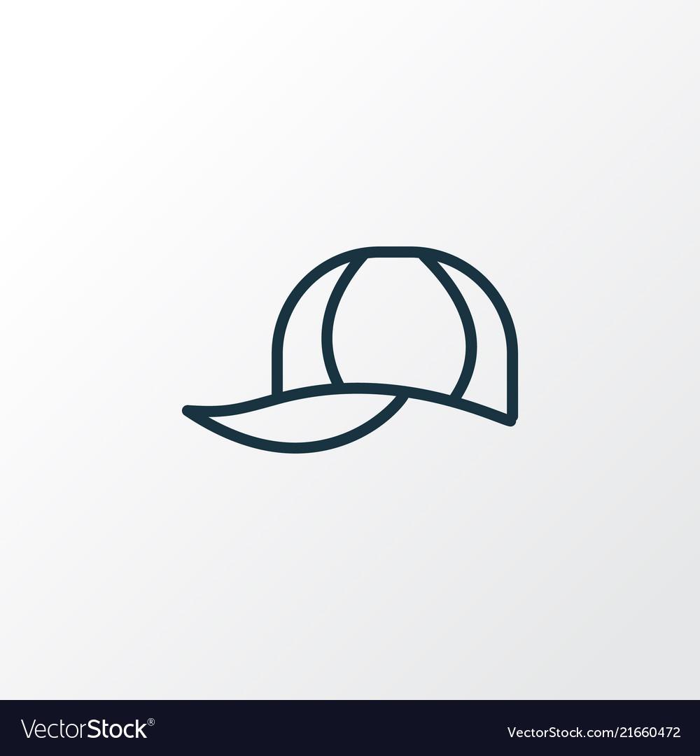 Cap icon line symbol premium quality isolated