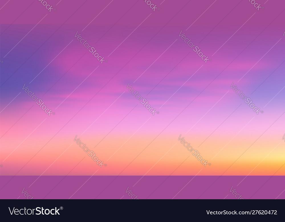 Colorful tropic sunrise sky
