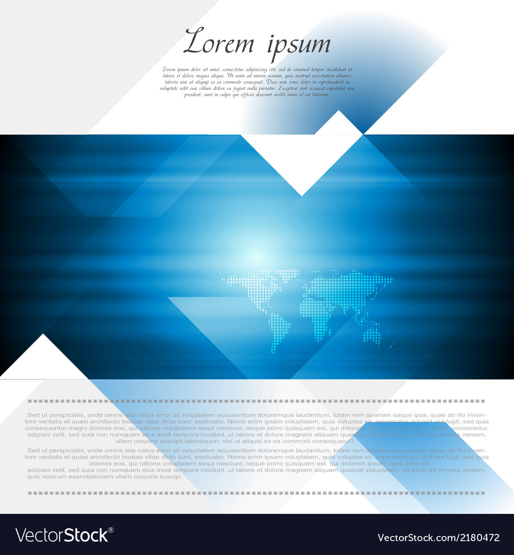 hi tech corporate flyer design royalty free vector image