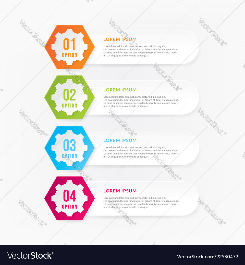 Infographic design elements with numbers
