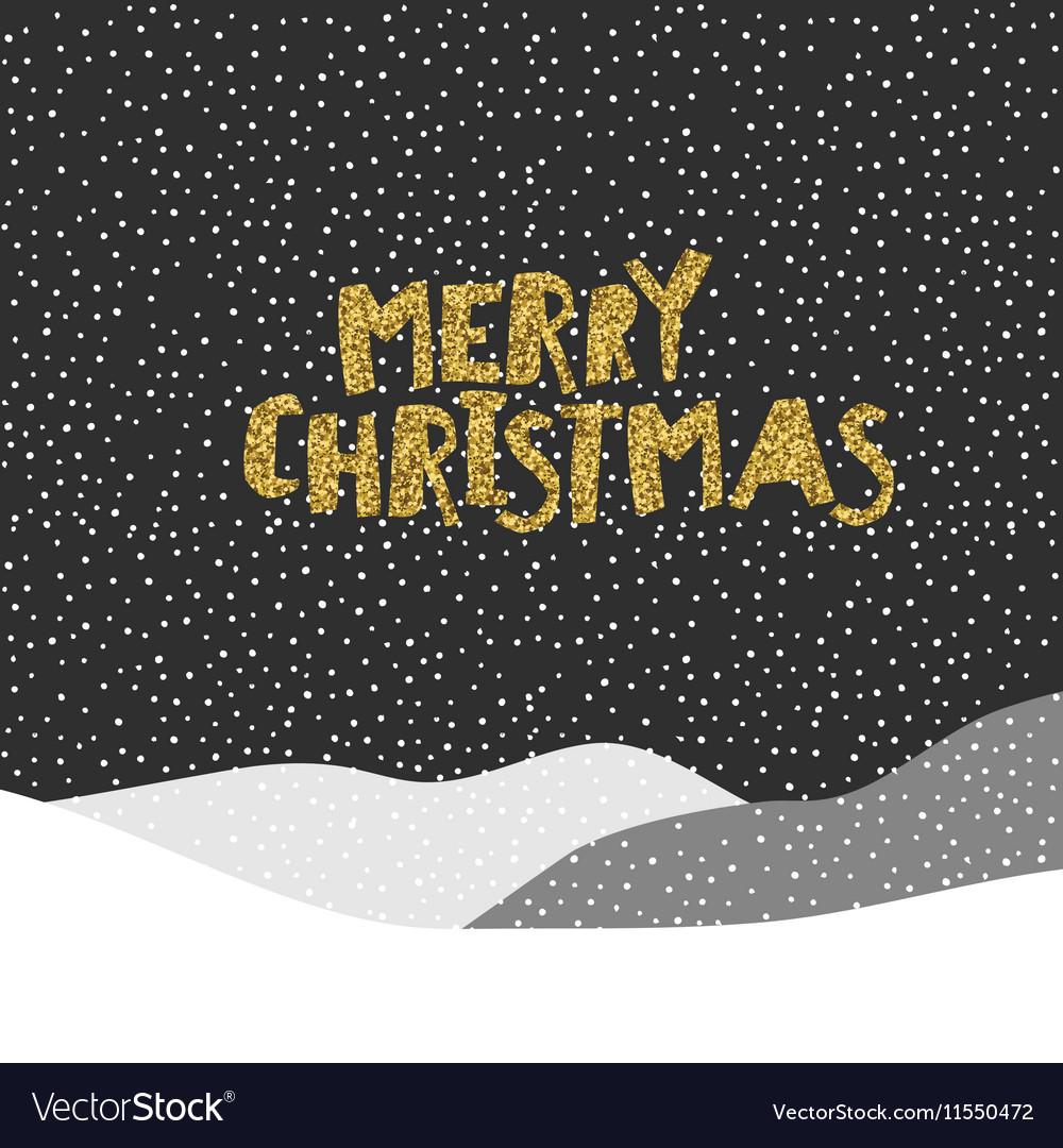 Merry Christmas postcard Christmas typography
