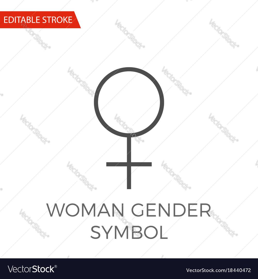 Woman gender symbol icon vector image