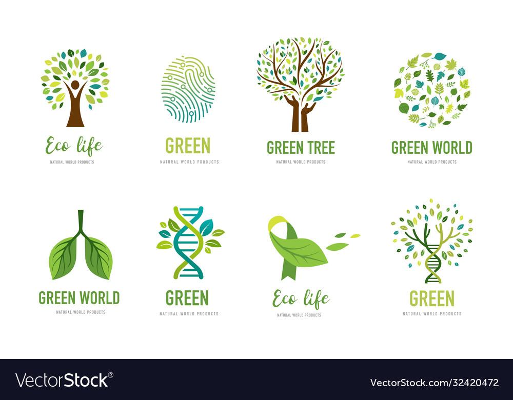 World environment day go green concept design