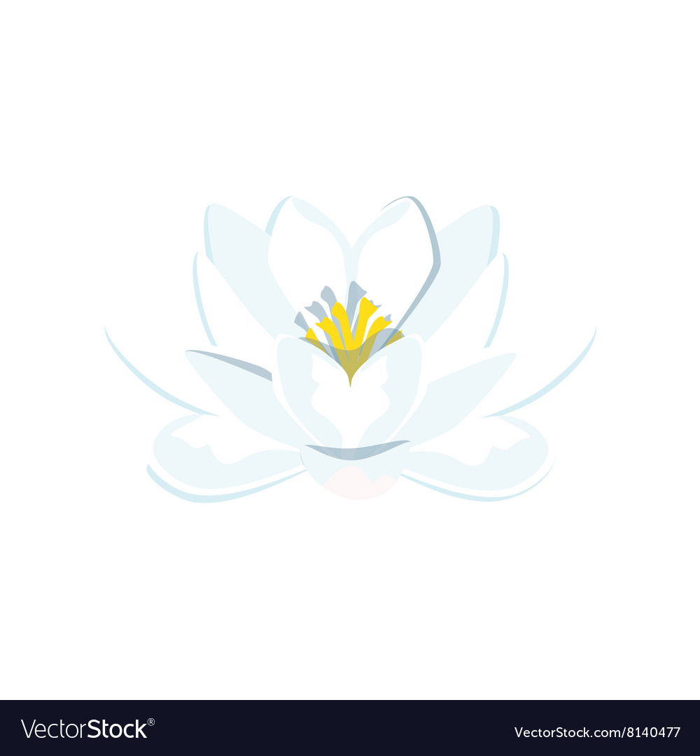 Blue water lily vector image