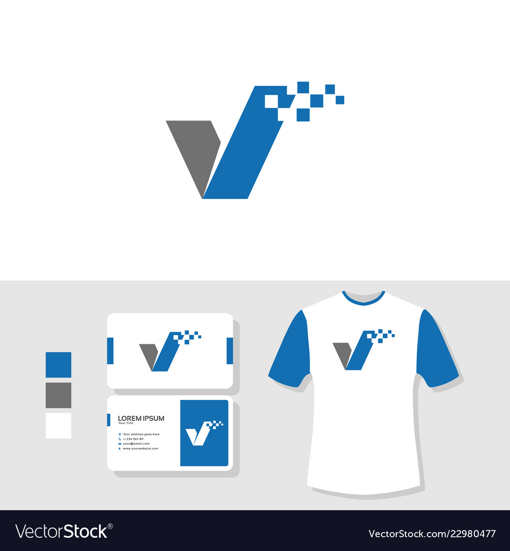 Business Card And T Shirt Vector Image