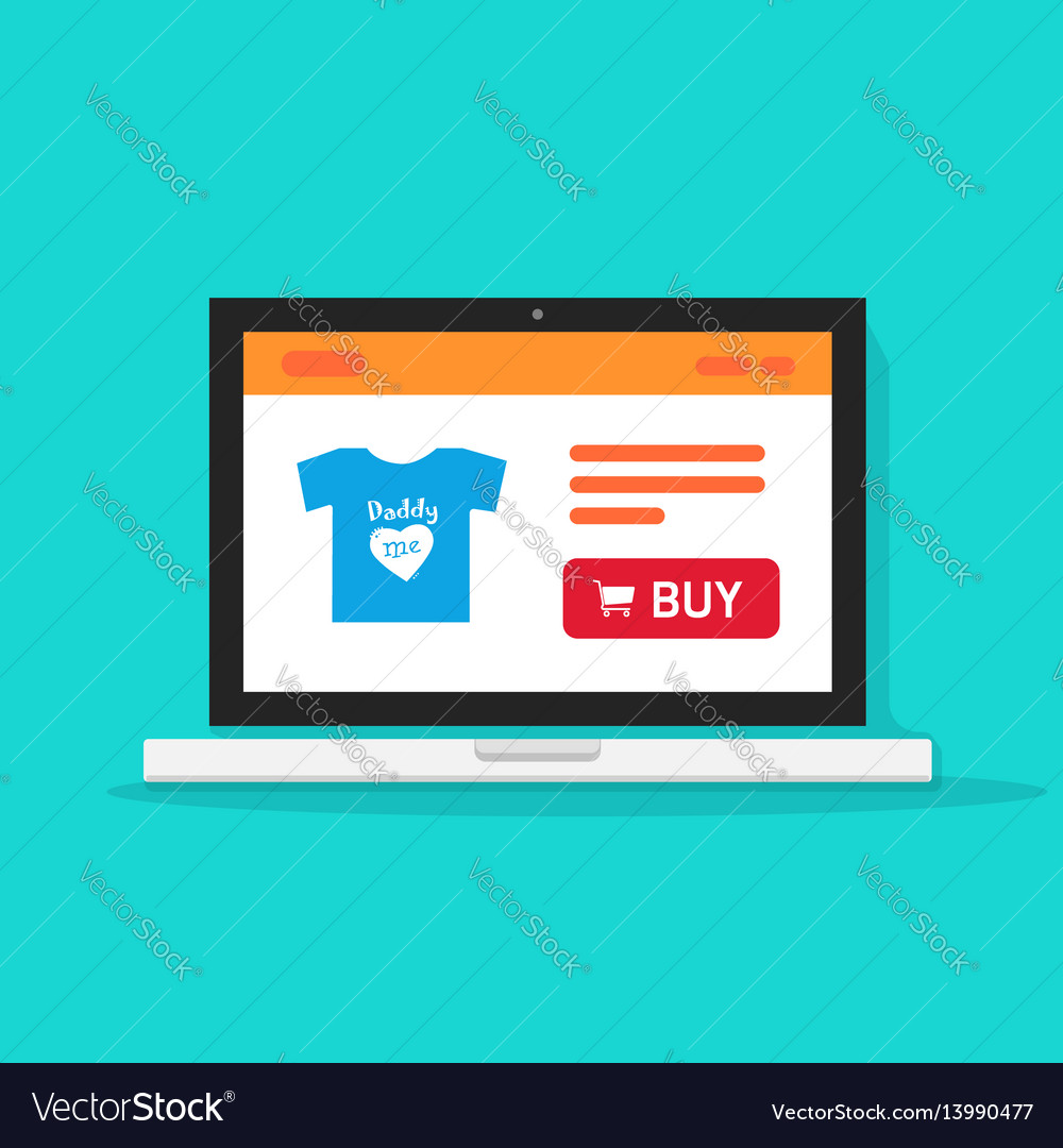 E-commerce shop online store on laptop computer