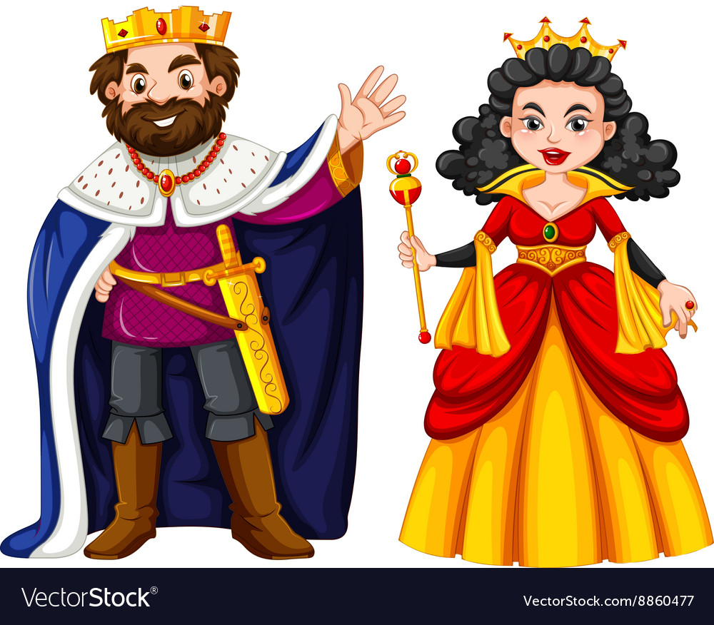 King and queen with happy face