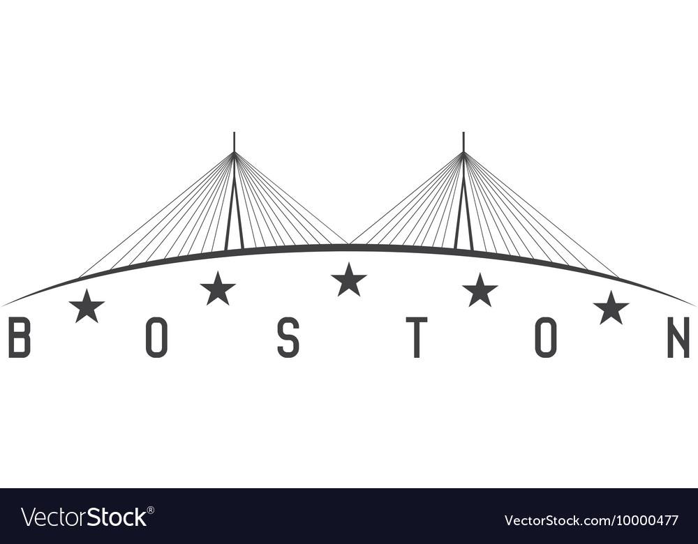 The Leonard P Zakim Bunker Hill Memorial Bridge vector image