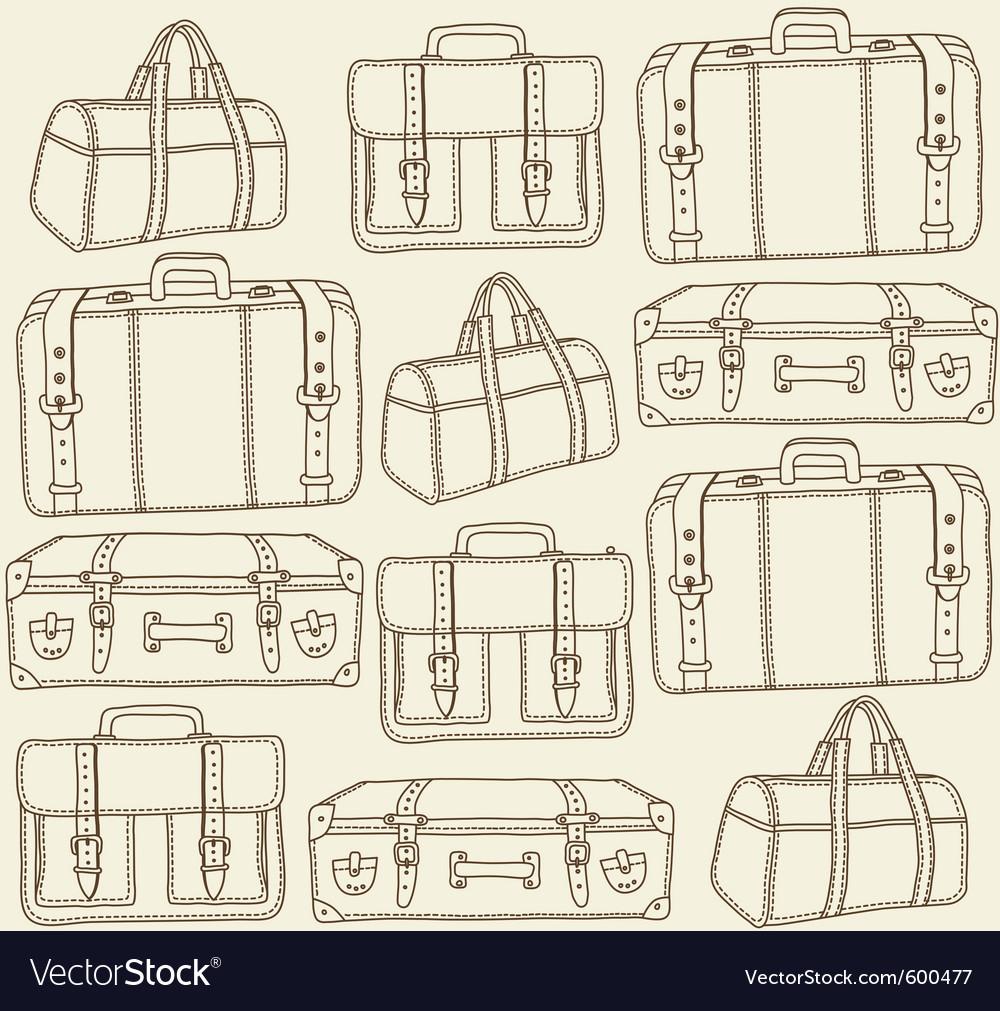 Travel bags seamless pattern