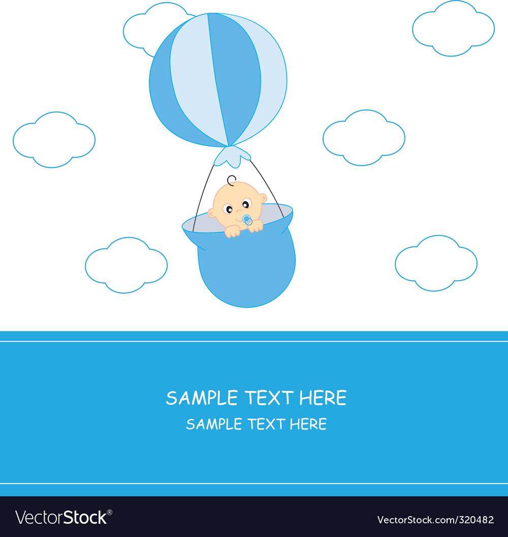 Babyboyballoon vector image