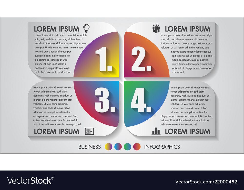 Business infographics 4 step
