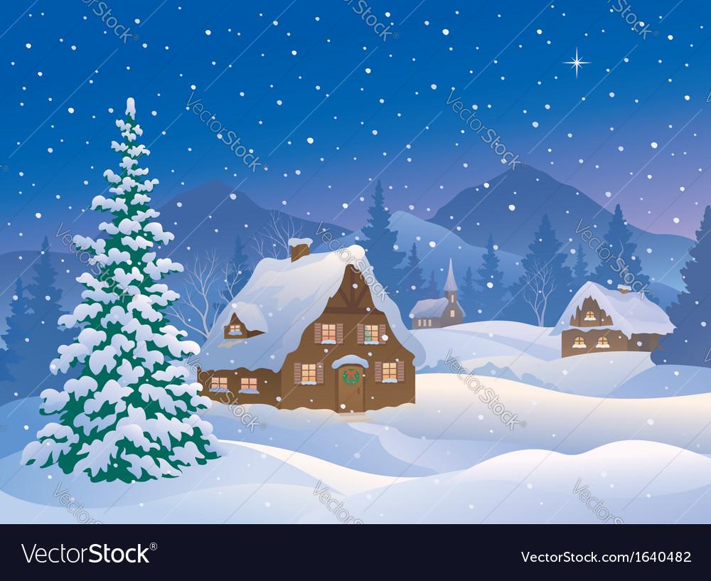 Christmas Village.Christmas Village At Mountains