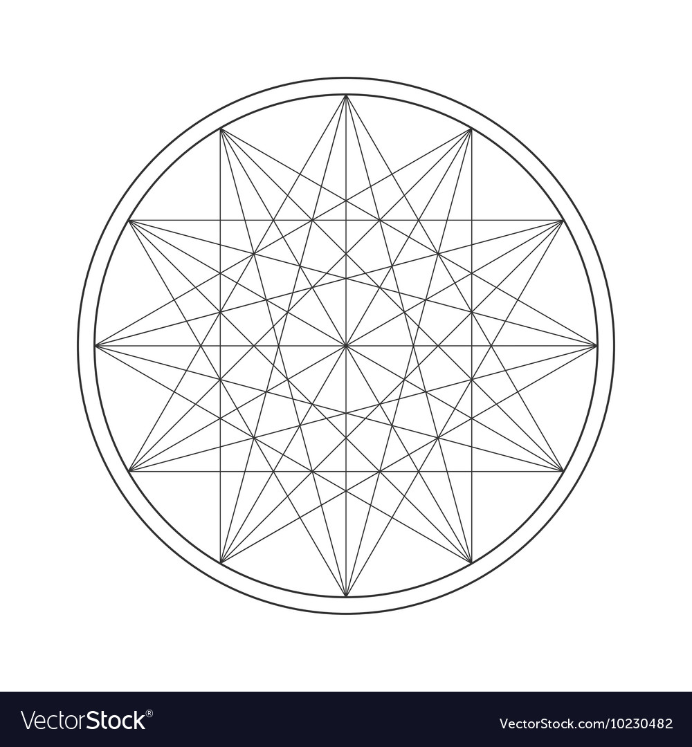 Sacred Geometry Symbol Stock Royalty Free Vector Image