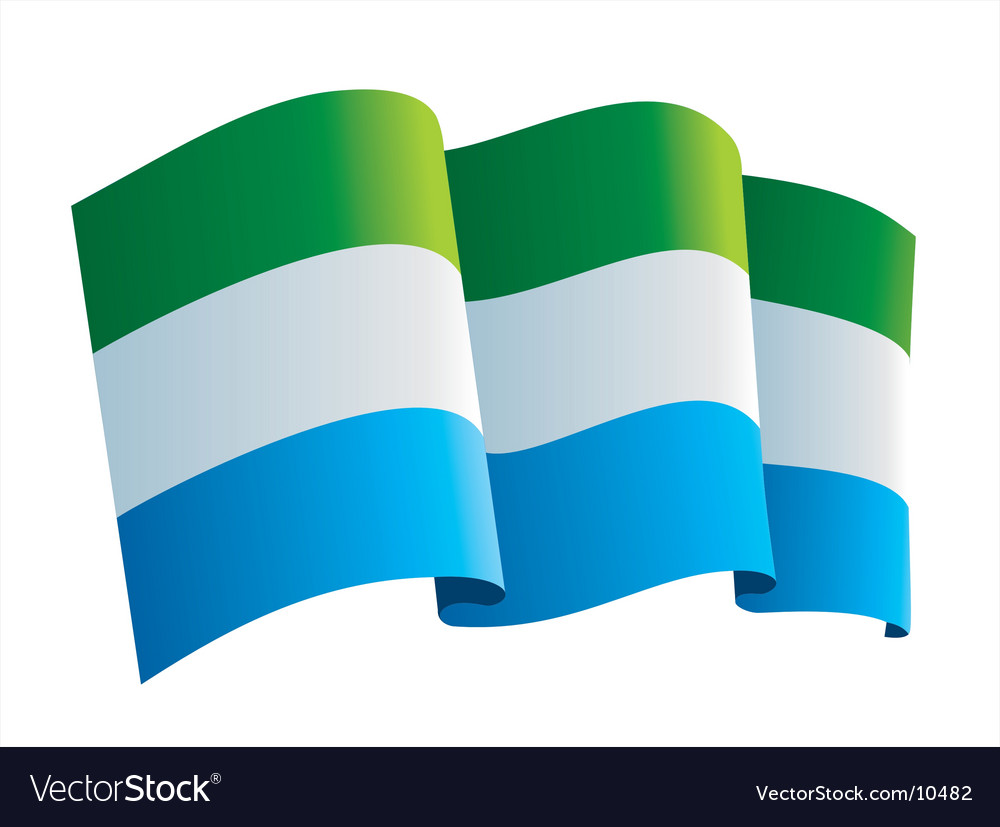 Sierra leone flag vector image