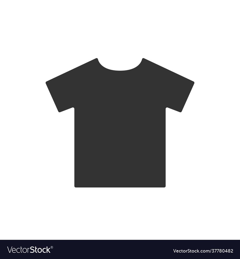 Simple t-shirt black pictograph shirt icon