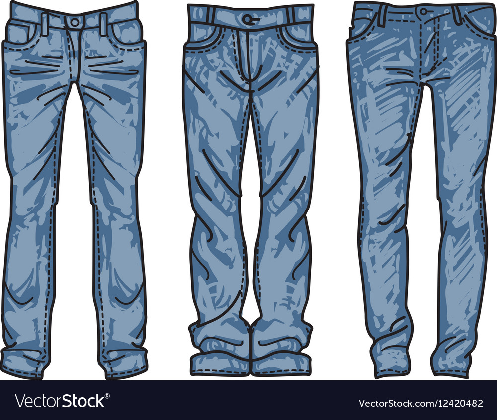 dcc28f2188ca Sketch mens jeans fashion jean Royalty Free Vector Image