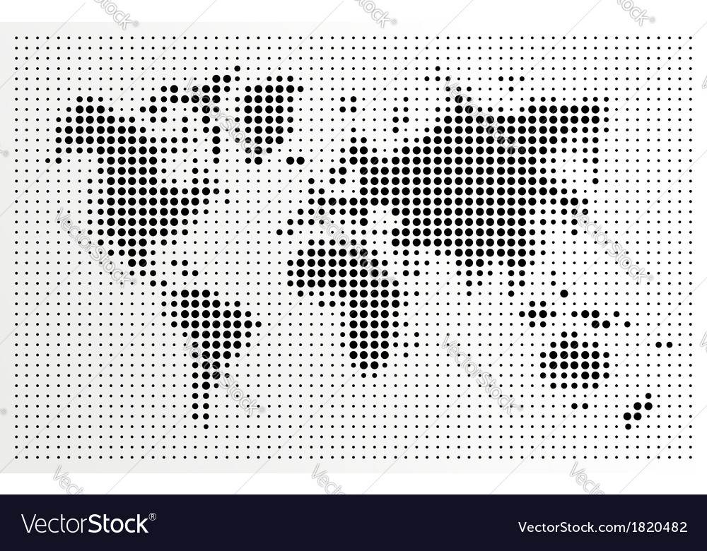 World map black dots atlas composition eps10 file vector image gumiabroncs Image collections