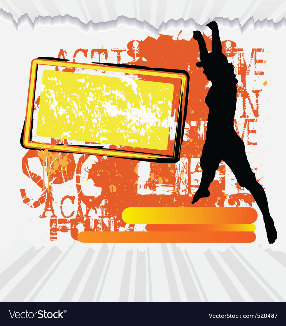 Active Woman Flyer Template On Abstract Background