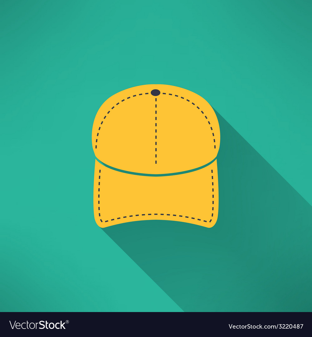 Baseball cap with long shadow National american vector image