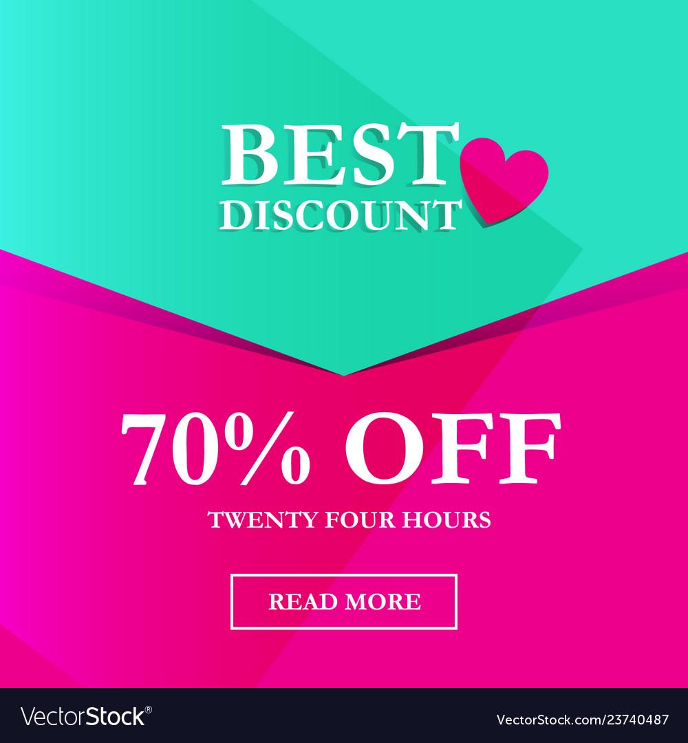 Best discount 70 off