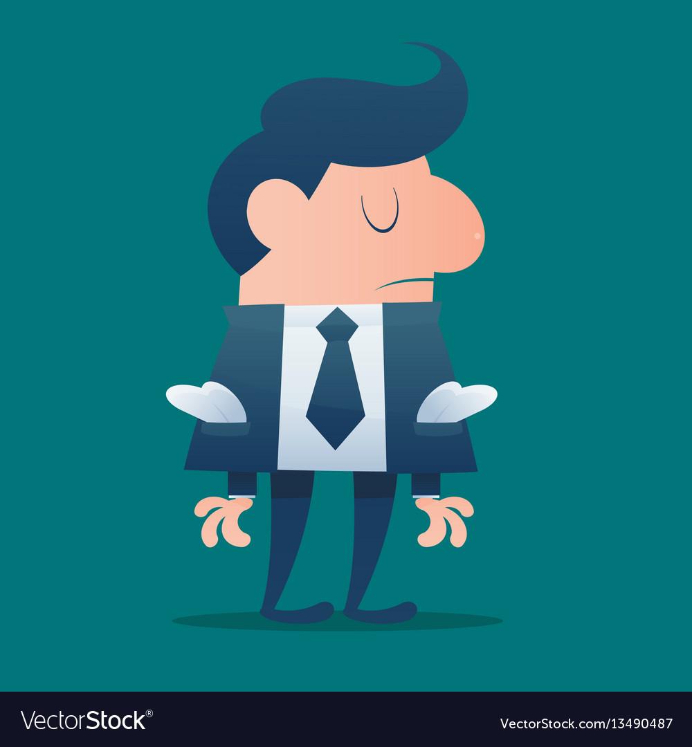 Businessman would be bankrupt cartoon