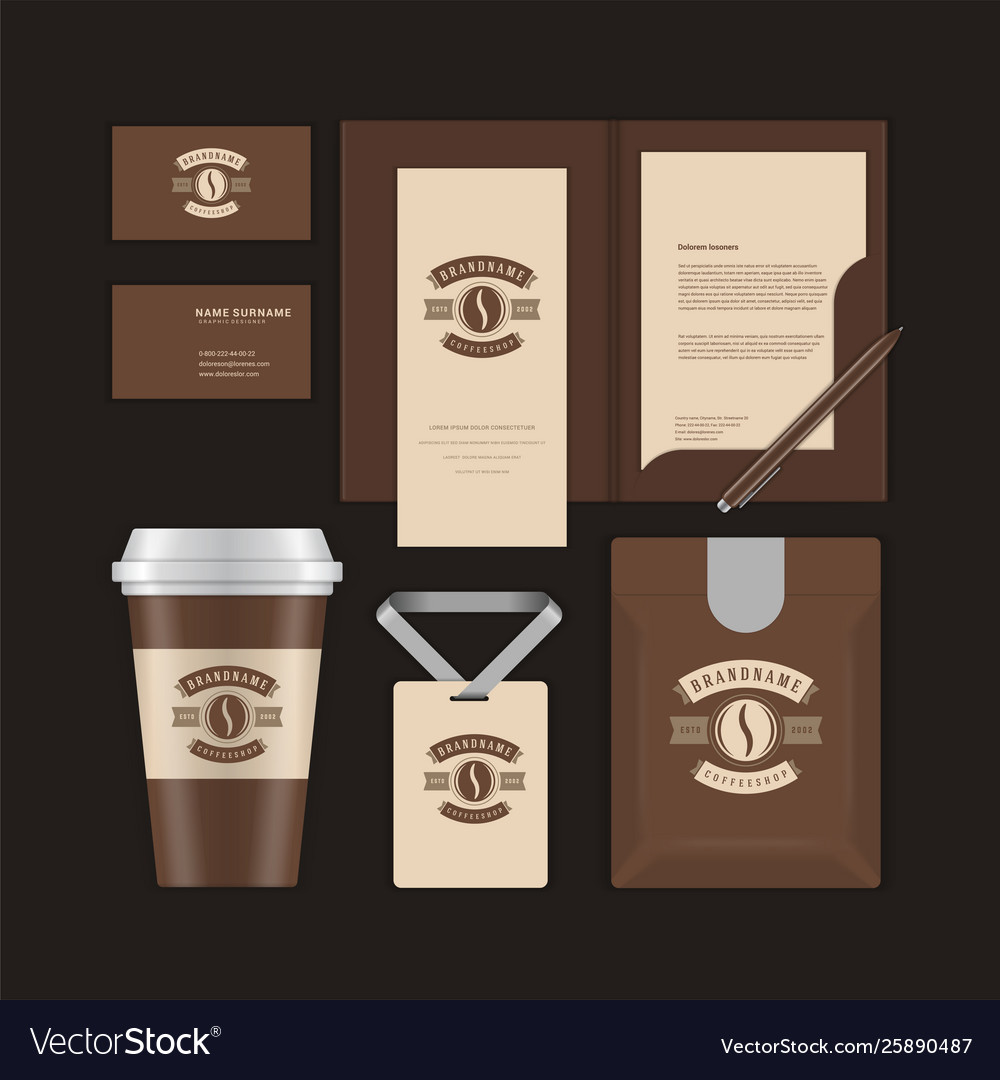 Coffee shop logo desig template and corporate