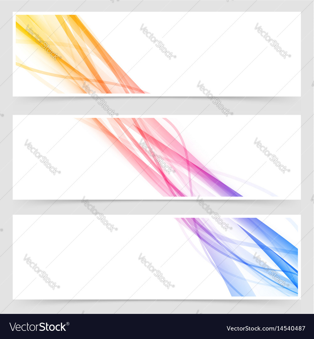 Cool modern abstract stream flyer collection vector image