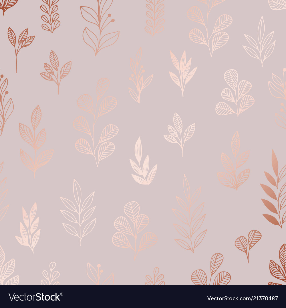 Decorative pattern with rose gold imitation