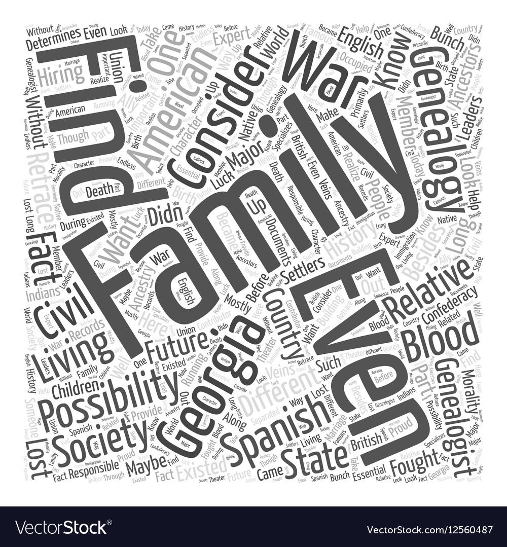 Georgia genealogy Word Cloud Concept