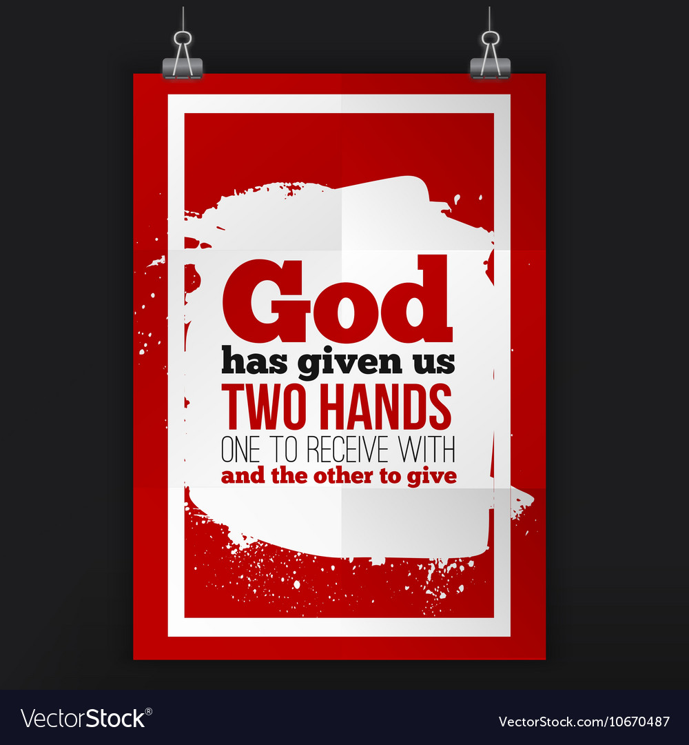 God has given us two hands simple design