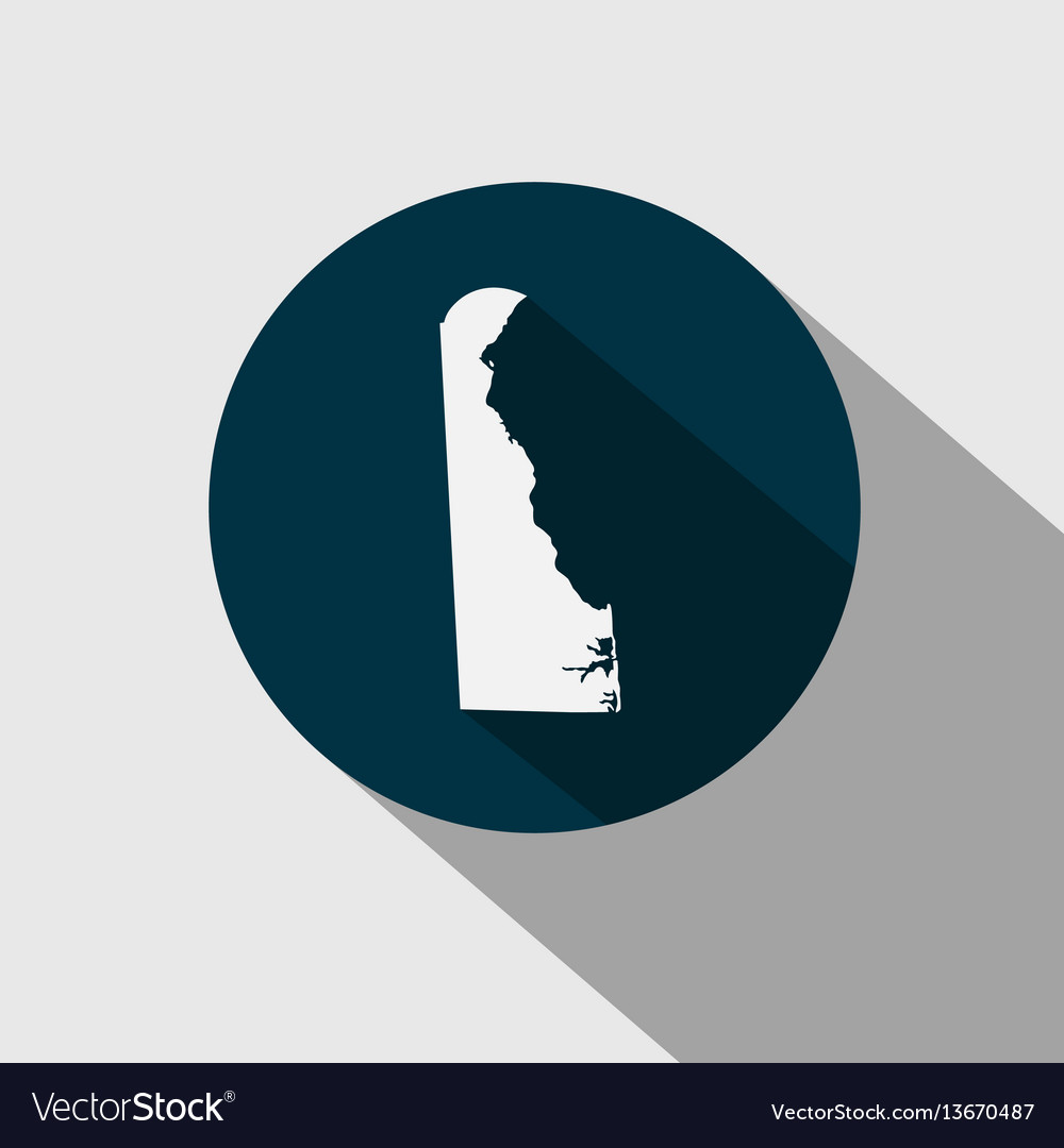 Map us state delaware