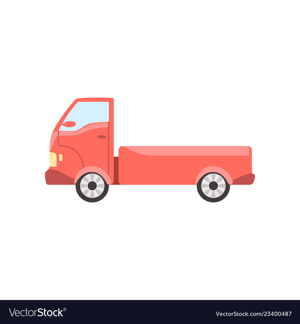 Red truck delivery cargo lorry