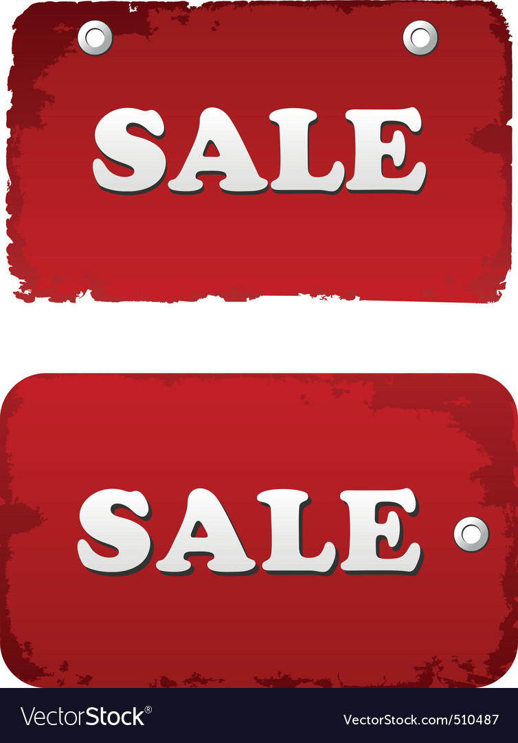 Vector red sale set discount tags labels