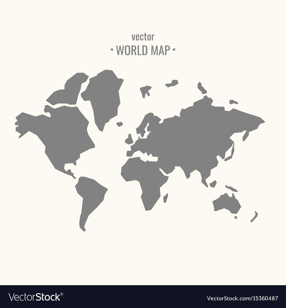 World map in trendy flat