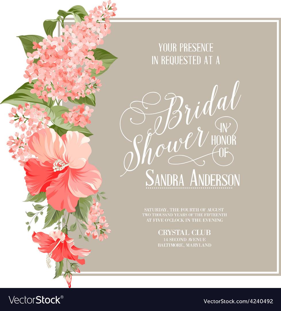 Bridal Shower Card Royalty Free Vector Image Vectorstock