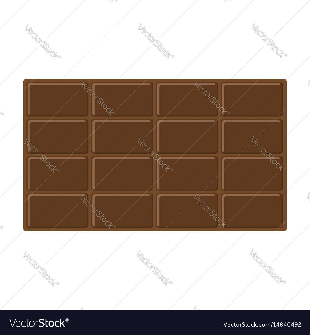 Chocolate bar icon tasty sweet food milk dark
