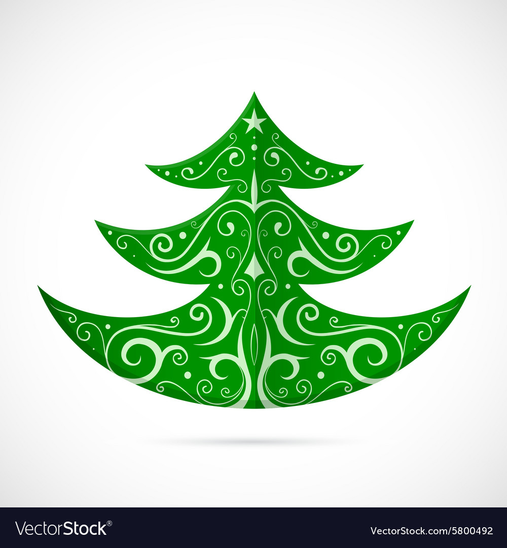 Christmas tree as symbol for winter Holidays