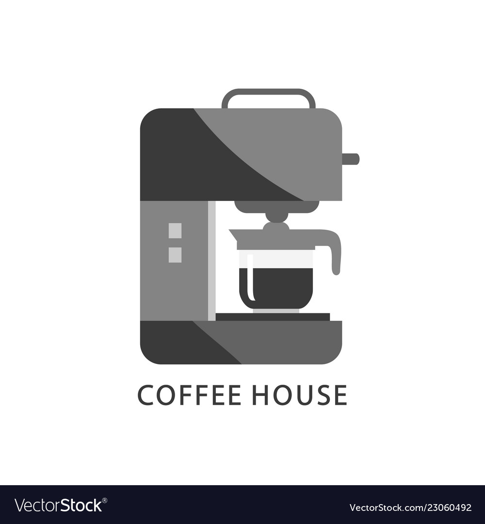 Coffee house logo coffee machine icon