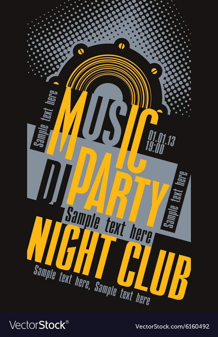 DJ music party