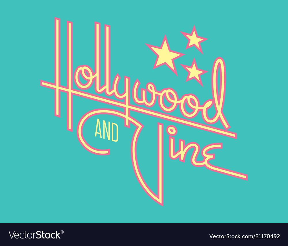 Hollywood retro design with stars