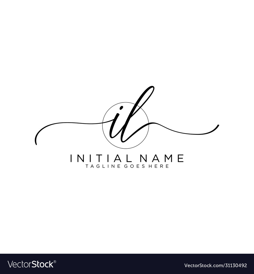 Il initial handwriting logo with circle template
