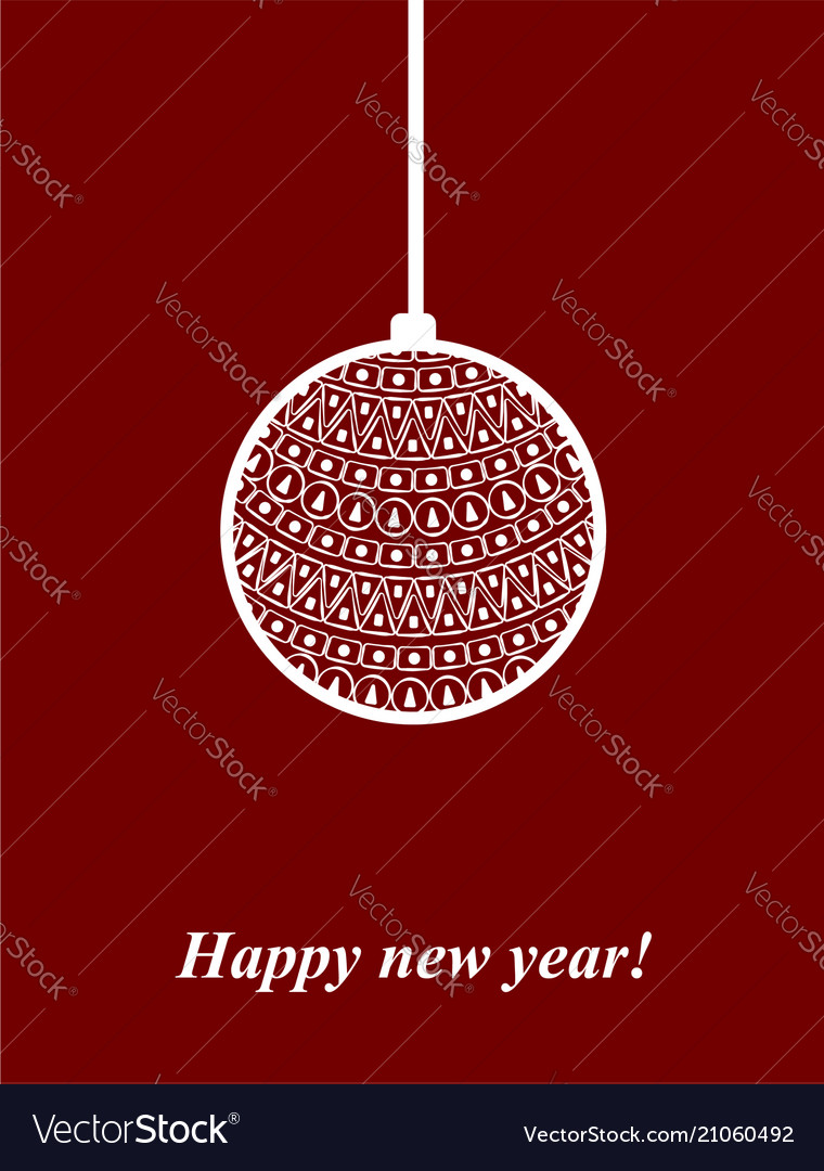 New year ball post card