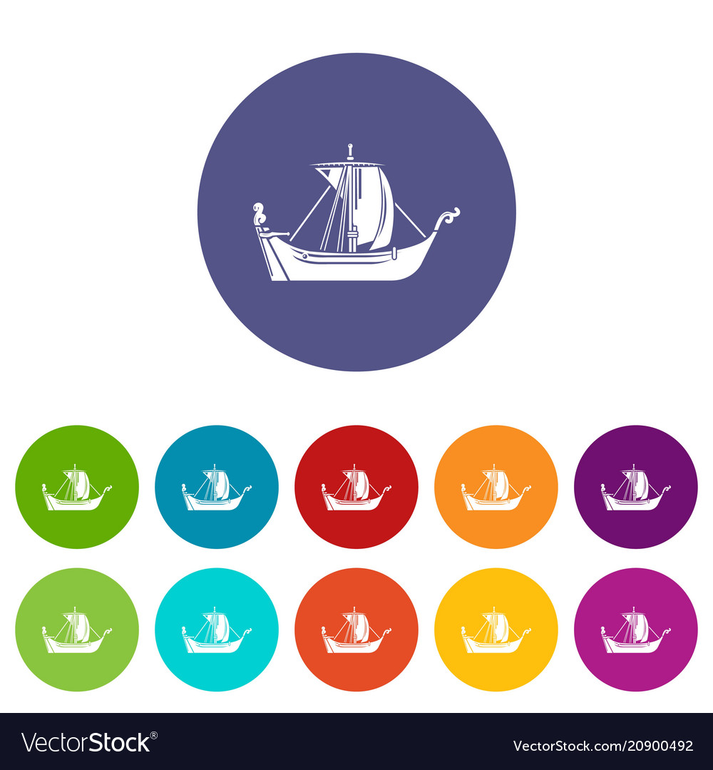 Pirate ship icon simple style