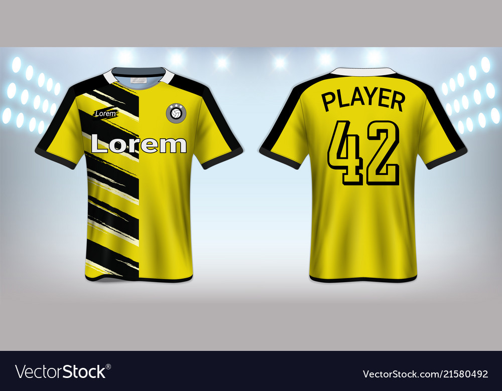 soccer jersey mockup template royalty free vector image
