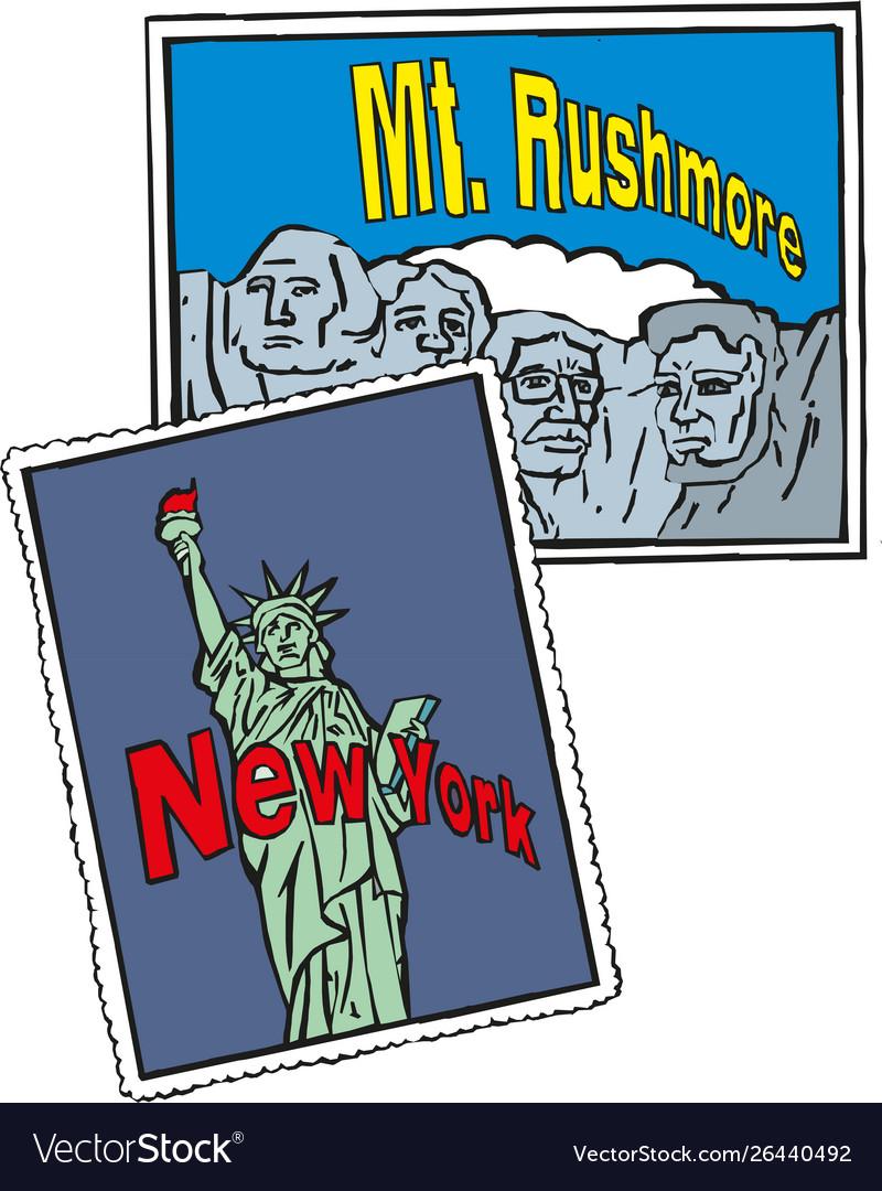 Statue liberty new york city rushmore usa