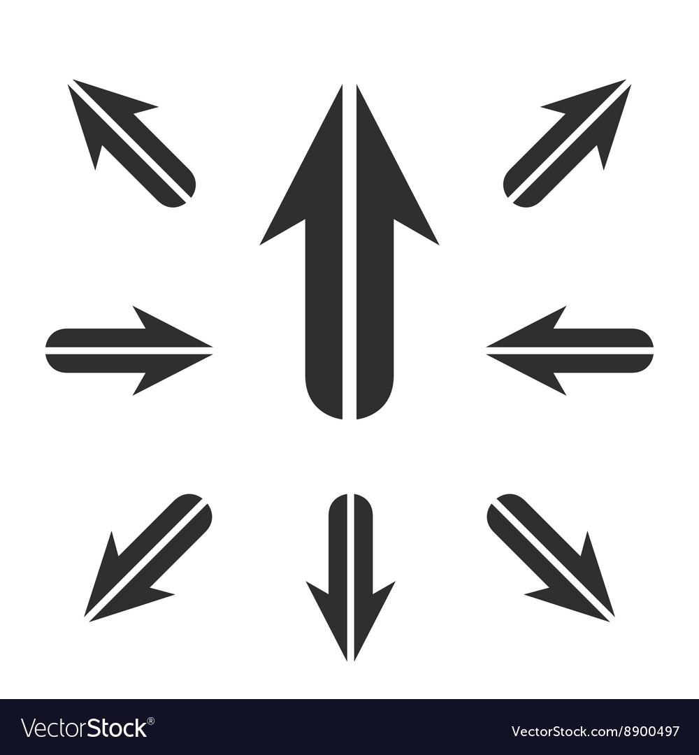 Arrow Icon logo element for template