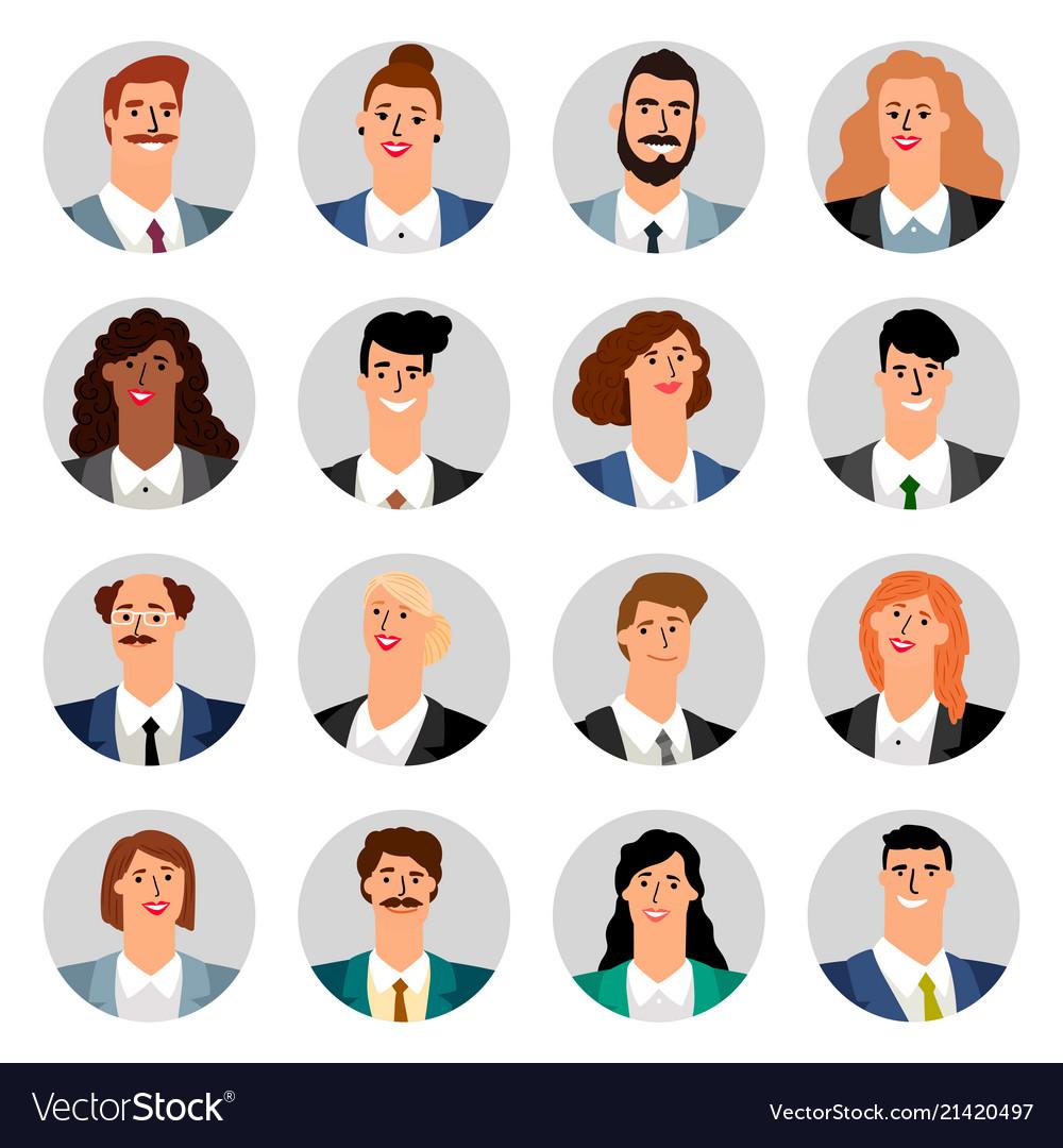 Cartoon business avatars