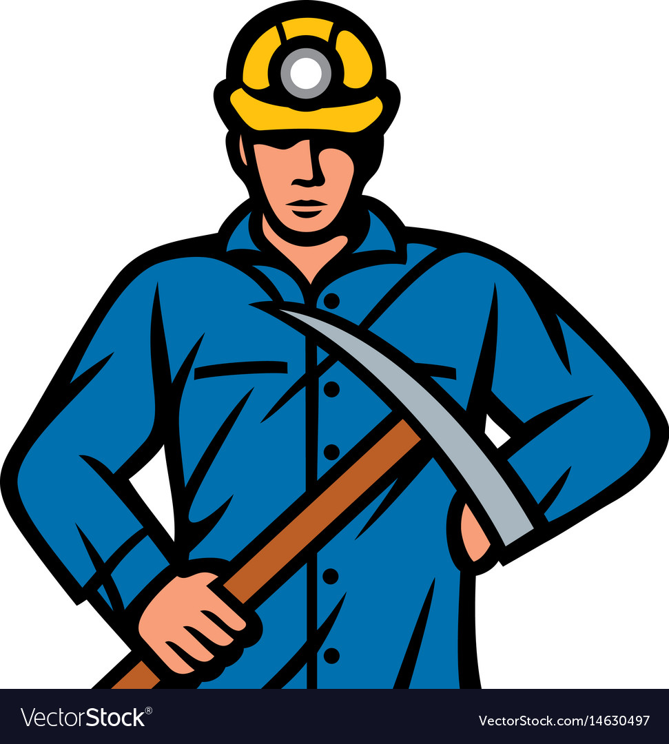 Coal miner with pick ax