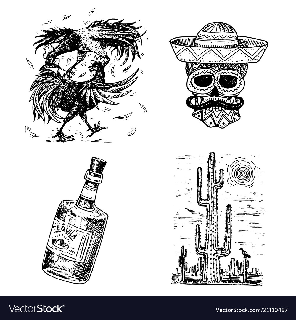 Day of the dead mexican national holiday with the vector image