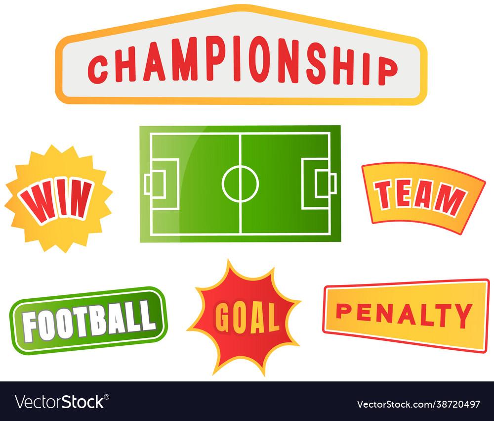 Football championship logo set soccer team